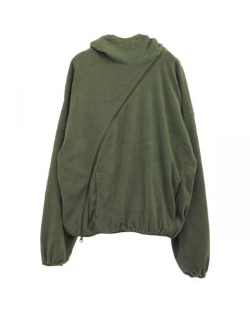 POST ARCHIVE FACTION 4.0+ HOODIE CENTER / OLIVE GREEN