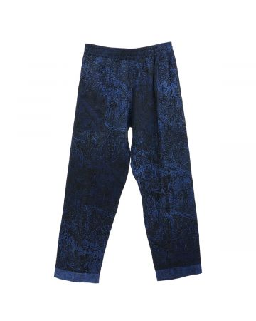PHINGERIN NIGHT PANTS GAUZE NIGHT FORREST / A : NAVY