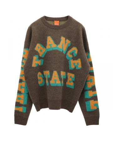 A Positive Messages TRANCE TRANCE TRANCE KNIT SWEATER / BURNT BROWN BUTTER