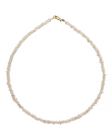 PREEK BEADS PEARL NECKLACE / WHITE