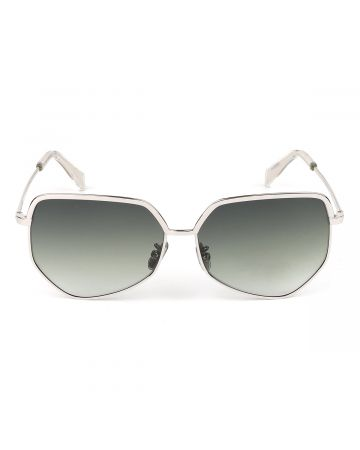 CELINE SUNGLASSES/3KITCLBIGLR0 / SILVER(GREEN)