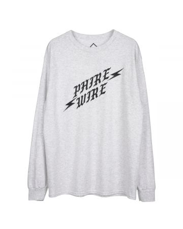 PHIRE WIRE for Cali Thornhill DeWitt LONG SLEEVE TEE / ASH GREY