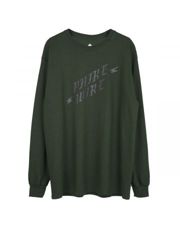 PHIRE WIRE for Cali Thornhill DeWitt LONG SLEEVE TEE / DARK GREEN