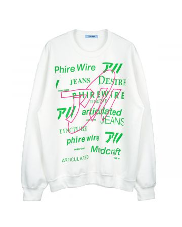 PHIRE WIRE MINDCRAFT CREW SWEAT / WHITE