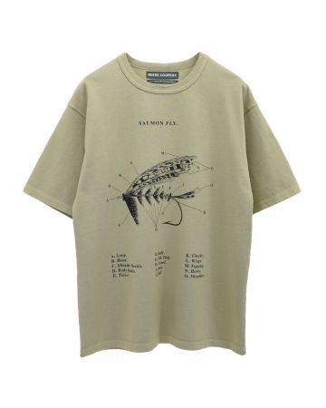 REESE COOPER SALMON FLY TEE SHIRT / MIST