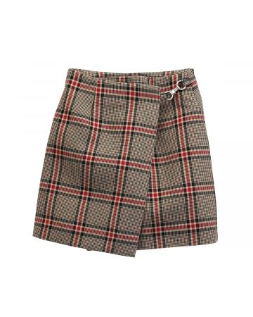 rokh MINI CLIP SKIRT / 170 : BEIGE CHECK