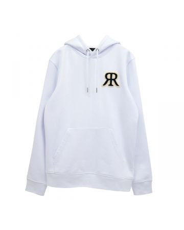 rokh BOUCLE EMBROIDERED HOODIE / 001 : WHITE