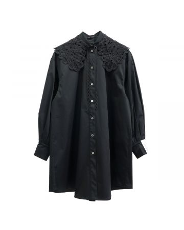 rokh BALLOON SHIRT / 000 : BLACK