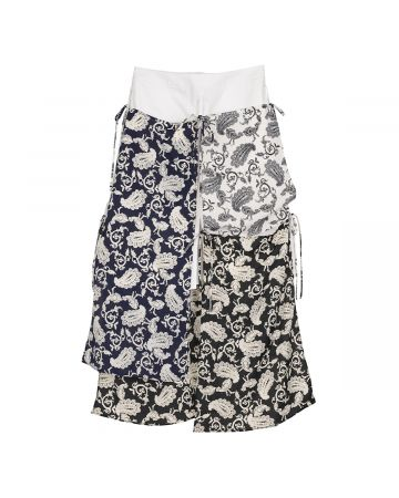 rokh MIDI SKIRT WITH SCARF / 001 : WHITE