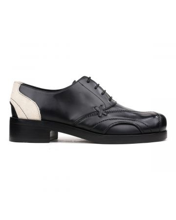 Stefan Cooke DERBY / BLACK LEATHER-OFF WHITE SUEDE