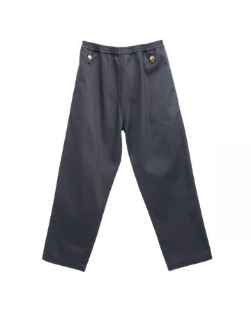 Stefan Cooke TROUSERS WITH ELASTIC WAIST AND BRASS BUTTONS / DARK NAVY