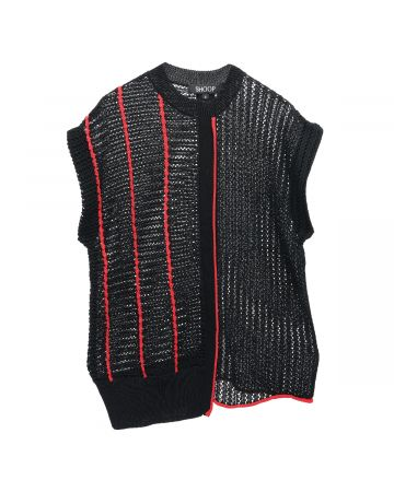 SHOOP JULY CROCHET VEST / BLACK