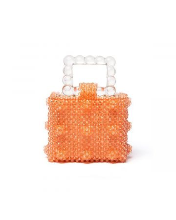 SHRIMPS MINI BEADED HAND BAG W.SCALLOP / CORAL