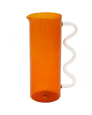 Sophie Lou Jacobsen WHSL-WAVE PITCHER / AMBER-CLEAR HANDLE