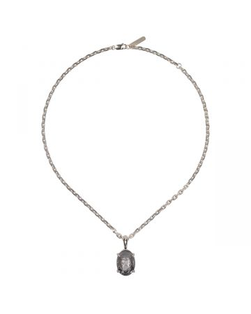 SWEETLIMEJUICE SILVER HAZE VOLLEY NECKLACE / SLV-GREY-CLEAR STONE