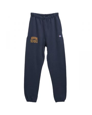 SERVING THE PEOPLE SERVING THE PEOPLE COLLEGIATE SWEATPANTS / NAVY