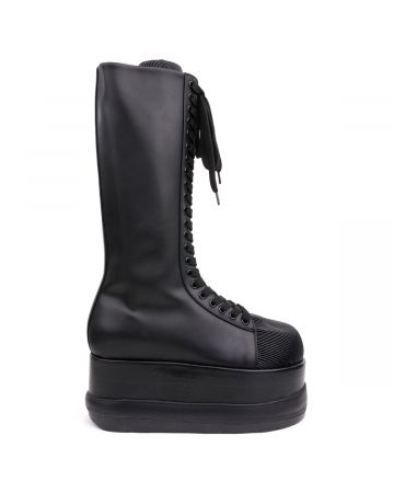 SUNNEI FUJI BLACK LEATHER DREAMY BOOT / BLACK LEATHER