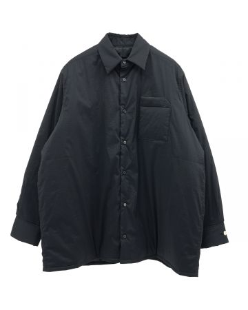th products PADDED OVERSIZED SHIRT / BLACK