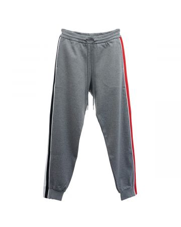 [お問い合わせ商品] THOM BROWNE. TRACK PANTS W.RWB STRIPE IN INTERLOCK / 035 : MED GREY