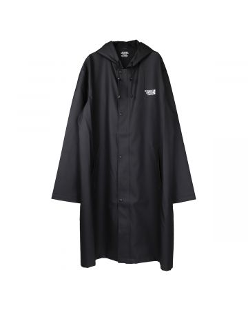 VETEMENTS BIG LOGO LIMITED EDITION RAINCOAT / BLACK