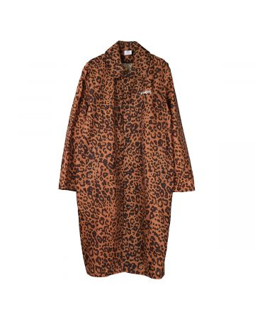 VETEMENTS EXTRA LIGHT LEOPARD COAT / LEOPARD