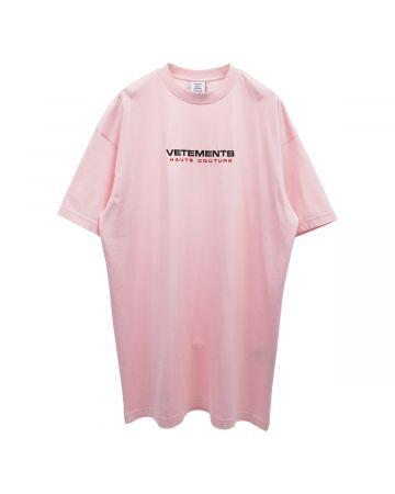 VETEMENTS LOGO HAUTE COUTURE T-SHIRT / BABY PINK