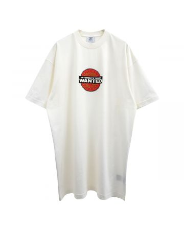 VETEMENTS VETEMENTS MOST WANTED T-SHIRT / WHITE