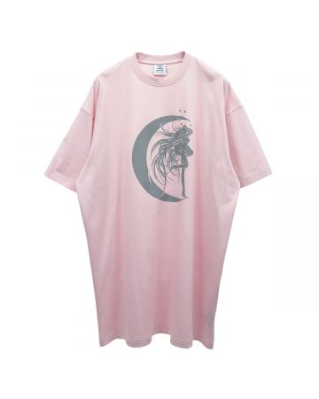VETEMENTS STAR GIRL T-SHIRT / BABY PINK-SILVER