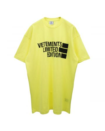 VETEMENTS BIG LOGO LIMITED EDITION T-SHIRT / NEON YELLOW