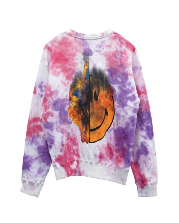 VENOM TWO FACE INSIDE TWO FACE CREW  SWEATSHIRTS / WHITE TIE-DYE