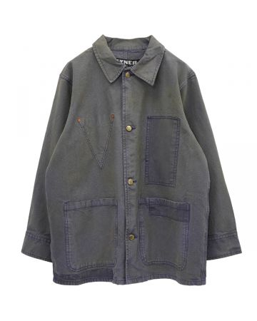 VYNER ARTICLES WORKER SATIN PATCHES JACKET / 7005 : V-RABBIT HOLE PU/BL