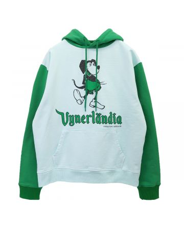 VYNER ARTICLES HOODIE WITH PRINT / 9027 : VICKEY PRINT WH-GR