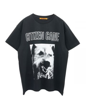 VYNER ARTICLES OVERSIZE T-SHIRT WITH PRINT / 1035 : CITIZEN CANE PRINT BL-WH