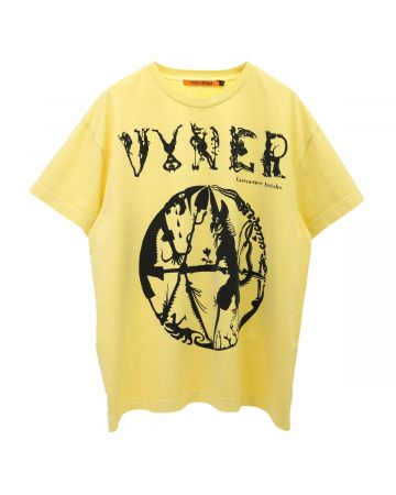 VYNER ARTICLES OVERSIZE T-SHIRT WITH PRINT / 2005 : VA CARICATURE PRINT YE-BL