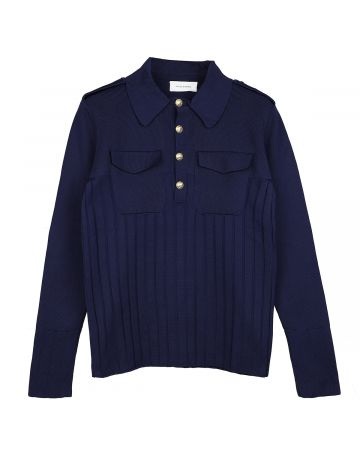 WALES BONNER GOTO SAFARI SHIRT / NAVY