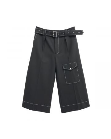 WALES BONNER JONES BERMUDA SHORTS / 999 : BLACK
