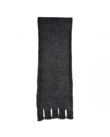 WE11DONE GLITTER SCARF / BLACK