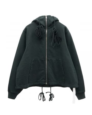 WE11DONE HORROR MOVIE ZIP-UP HOODIE / KHAKI