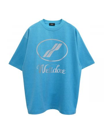 WE11DONE WE11DONE LOGO T-SHIRT / NEON BLUE
