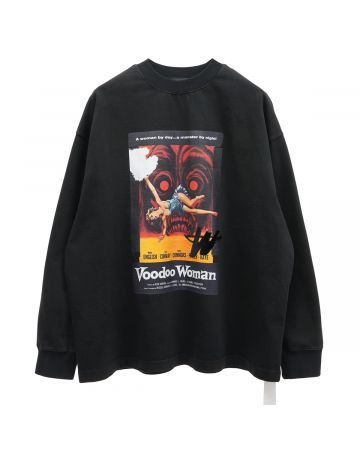 WE11DONE HORROR MOVIE LONG SLEEVE T-SHIRT / BLACK