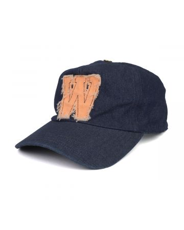 WE11DONE NEON PATCH EMBROIDERED CAP / INDIGO BLUE