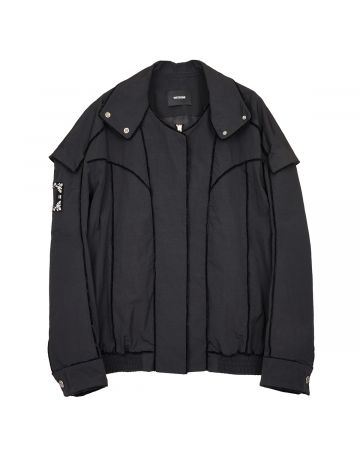 WE11DONE VELVET LINING BOMBER JACKET / BLACK