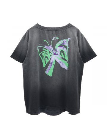WE11DONE BUTTERFLY WASHED T-SHIRTS / BLACK