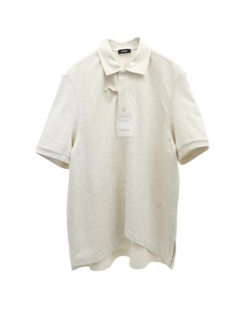 WE11DONE PANELLED OVER-SIZE POLO / IVORY