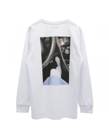 "WHITEHOUSE3000 ""BILLIE 1"" LONGSLEEVE / WHITE"