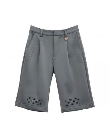 Xander Zhou TAILORED SHORTS WITH LASER CUT / GREY