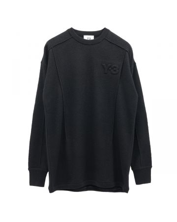Y-3 M CLASSIC MERINO BLEND KNITTED SWEATER / BLACK