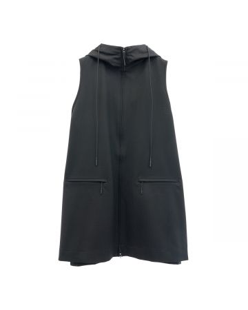 Y-3 W CLASSIC REFINED WOOL STRETCH VEST / BLACK