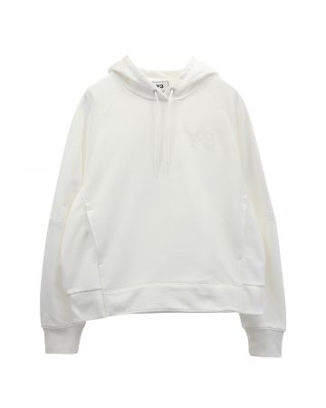 Y-3 W CLASSIC CHEST LOGO HOODIE / CORE WHITE
