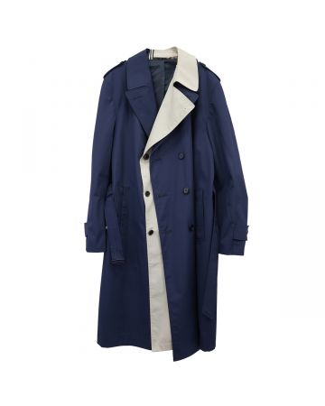 "MARINA YEE ""SIR JAMES"" IMPER COAT / NAVY-BEIGE"